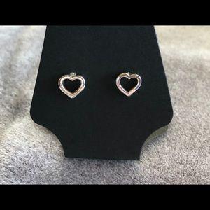 Silver vintage heart earrings